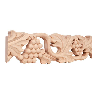 "4"" x 1"" Hand Carved Moulding - Cherry"