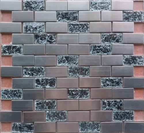 Stainless HLX8-23B 12x12 Mosaic Tile