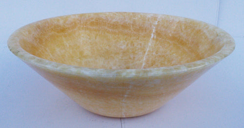 Honey Onyx Cone Shaped Vessel Sink