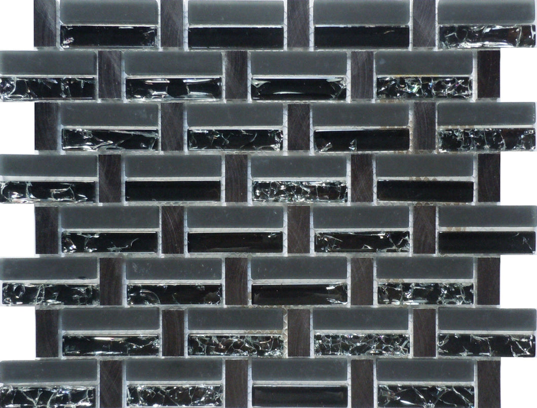 Crackled 193-64 12x13 Mosaic Tile