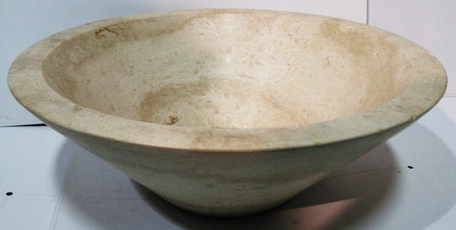 Light Beige Travertine Cone Shaped Vessel Sink