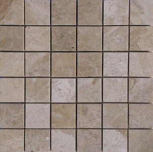 "2"" x 2"" Diana Royal Polished Honed Marble Mosaic Tile - MO1065"