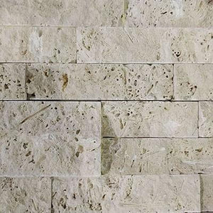 "Split Face Ivory  Travertine ""6x24"""
