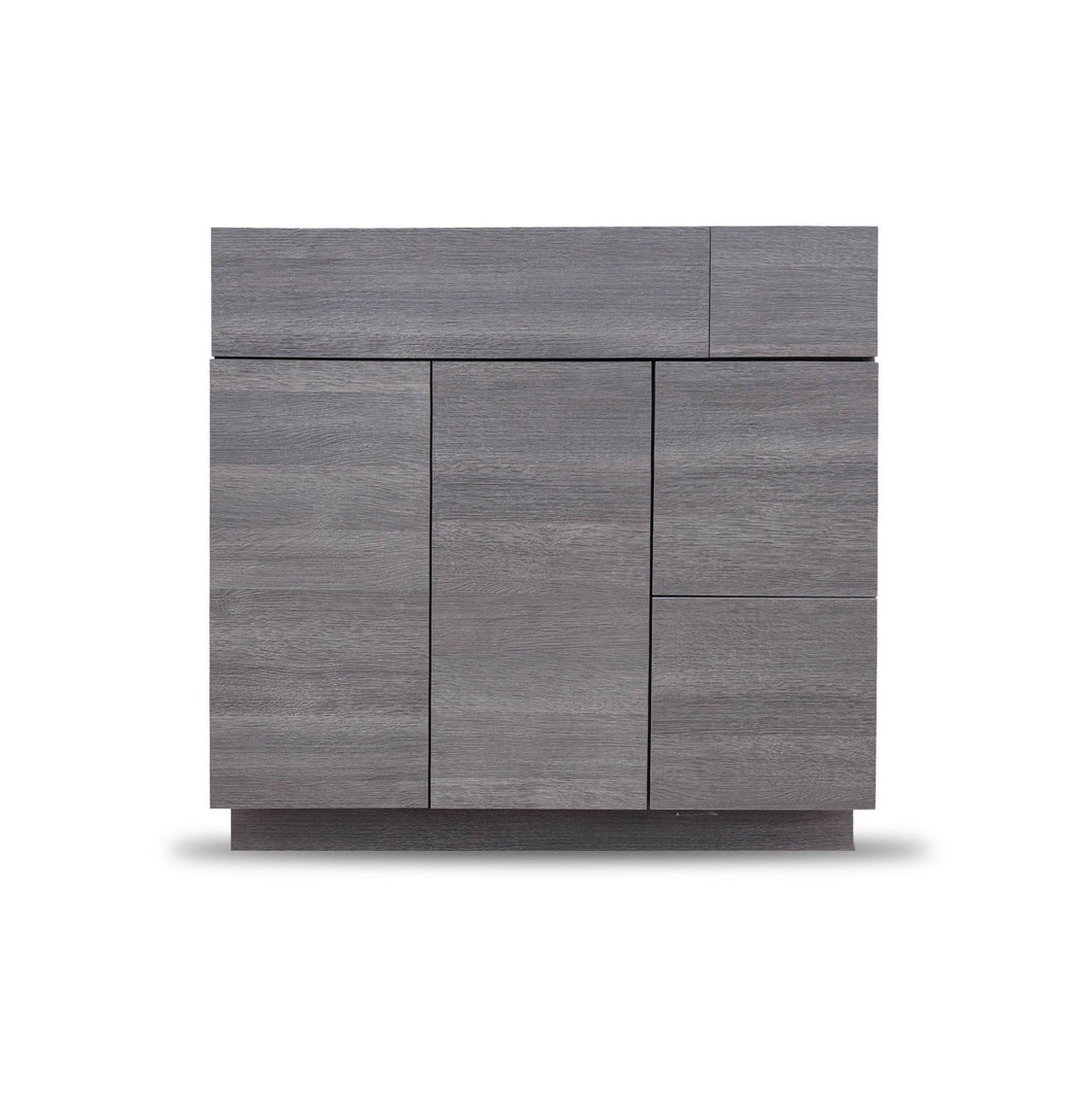 36 Inch Bathroom Cabinet Vanity Strand Grey Right  Drawers