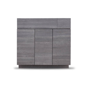 36 Inch Bathroom Cabinet Vanity Strand Grey Left  Drawers