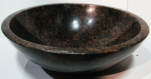 Tan (England) Brown Granite Round Vessel Sink