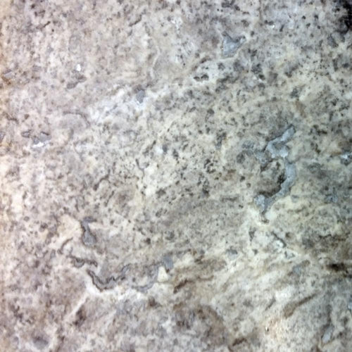 18x18 Travertine Silver