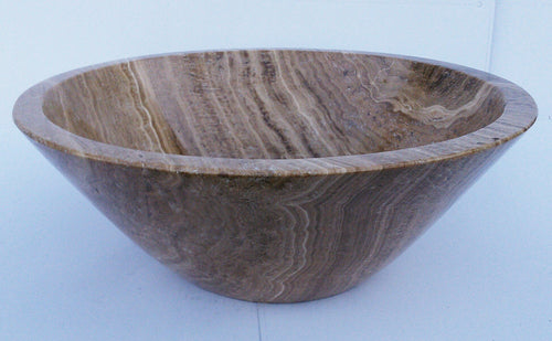 Wood Look Cone Shape Marble Vessel Sink