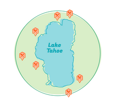 lake tahoe delivery map
