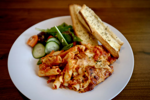 Baked Ziti with Classic Salad for Two