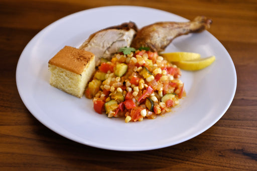 Spatchcock Chicken & Succotash for Two