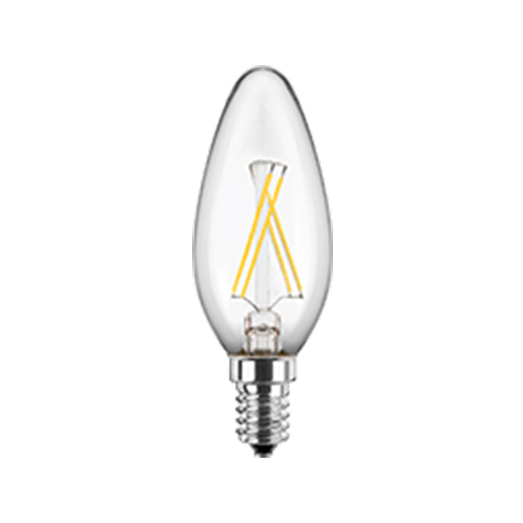LED Filament Lampe Kerzenform 5 Watt E14 WW Glas (klar), dimmbar