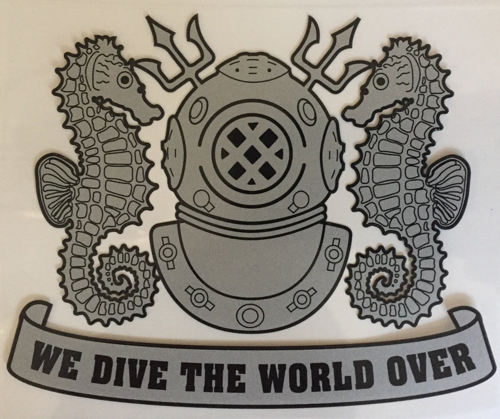 We Dive The World Over Sticker