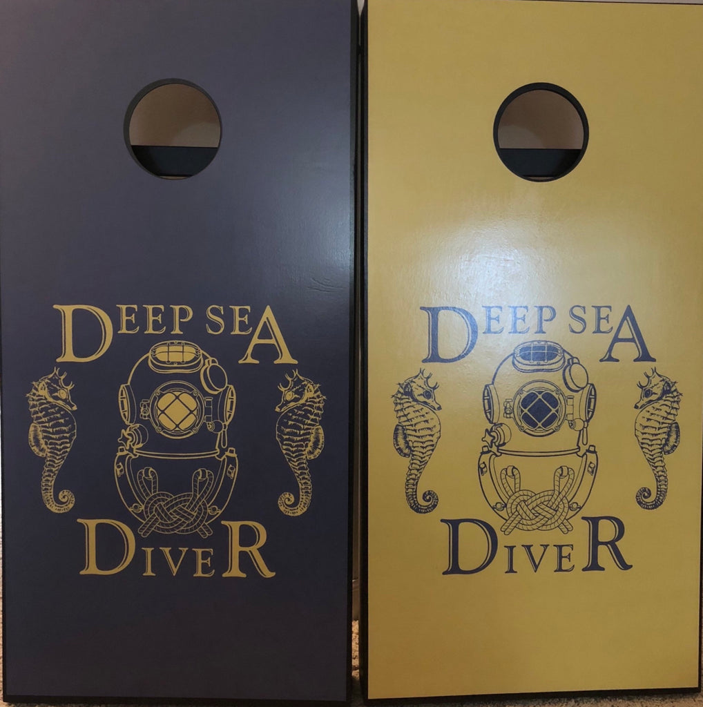 Deep Sea Cornhole Board Wraps