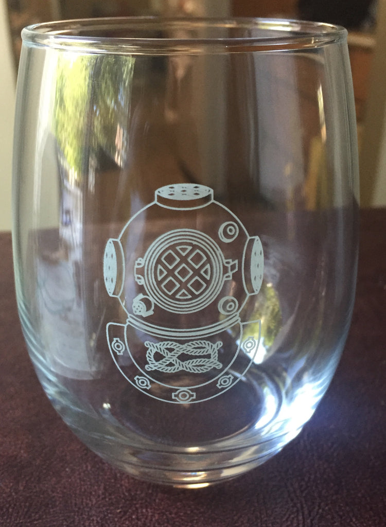 MK-V Etched Wine Glass