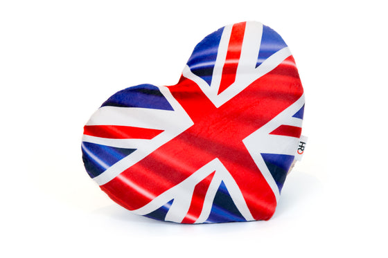 Union Jack Heart Shaped Cushion