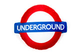 London Underground Roundel Logo Cushion