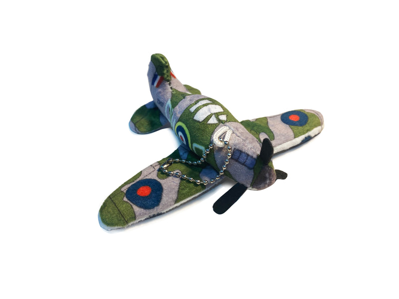 Spitfire Plane Plush Key Ring
