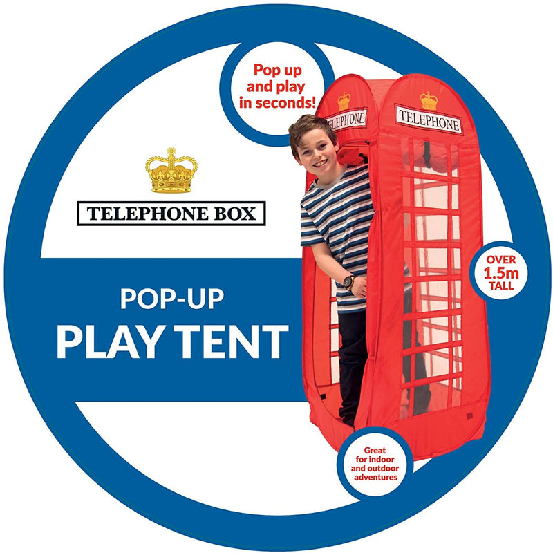 Red Telephone Box Pop-up Play Tent