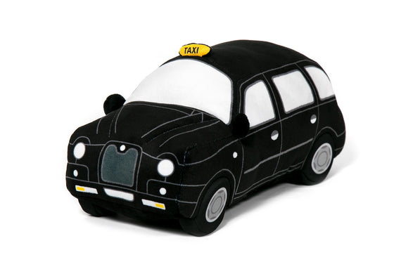 London Black Taxi Cab Soft Toy