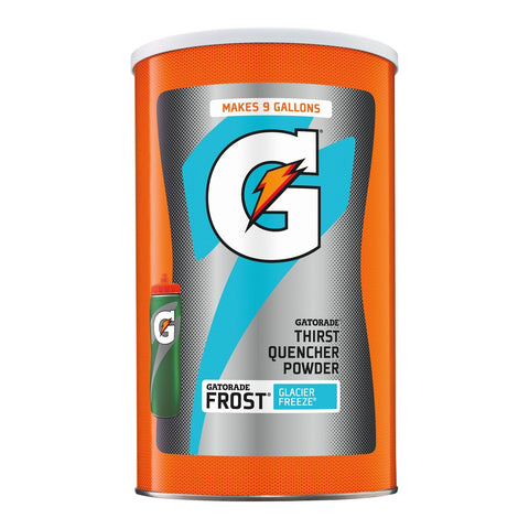 Gatorade Powdered Drink Mix, Frost Glacier Freeze, 76.5 oz., Makes 9 Gallons