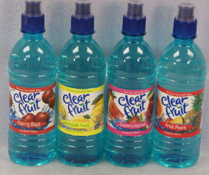 Clear Fruit Water Sport Bottle, 16.9 oz