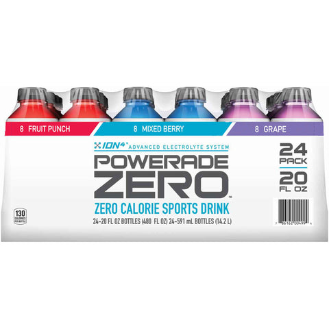 POWERADE ZERO, Electrolyte Enhanced Sports Drinks 20oz