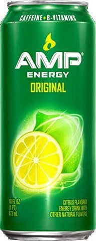 Amp Energy, Original, Caffeine, B Vitamins, 16 Oz cans
