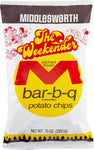 Middleswarth Kitchen Fresh Potato Chips Bar-B-Q Flavored The Weekender 10 oz (4 Bags)