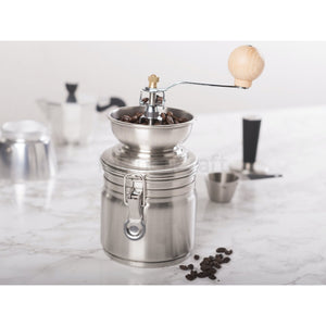 Silver La Cafetiere Hand Coffee Grinder with Cannister