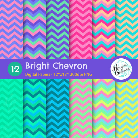 Bright Chevron Pattern Set