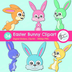 Easter Bunny Clip Art Set