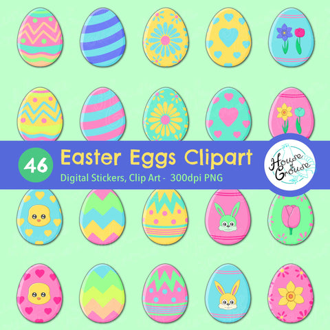 Easter Eggs Clip Art Set