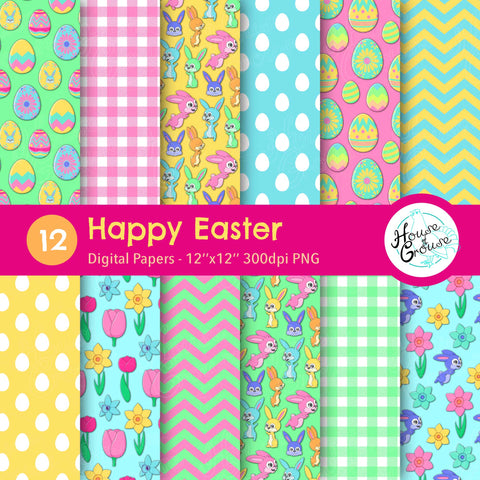 Happy Easter Pattern Set