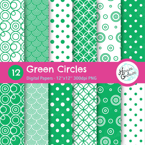 Green Circles Pattern Set
