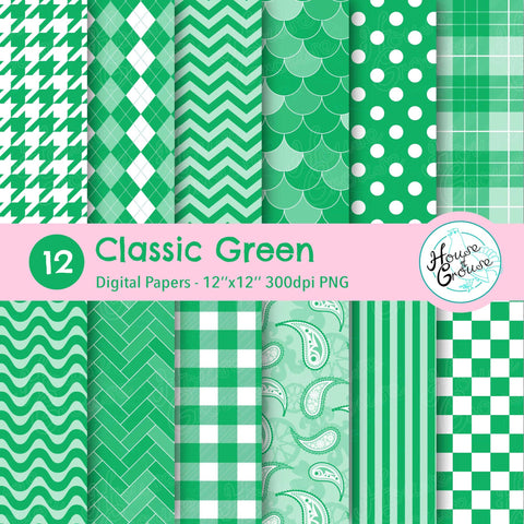 Classic Green Pattern Set