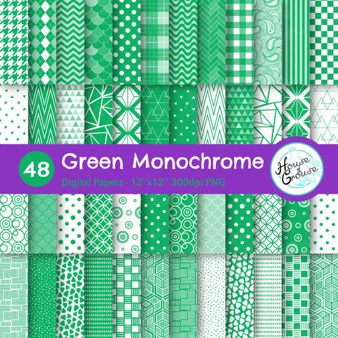 Green Monochrome Pattern Bundle