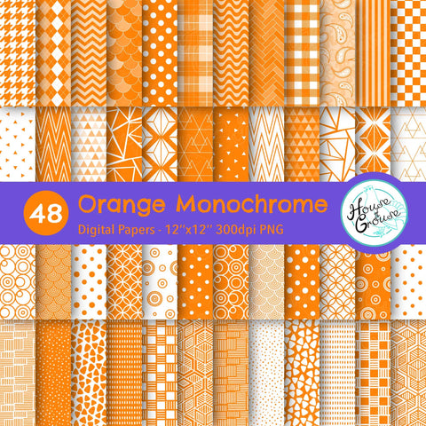 Orange Monochrome Pattern Bundle