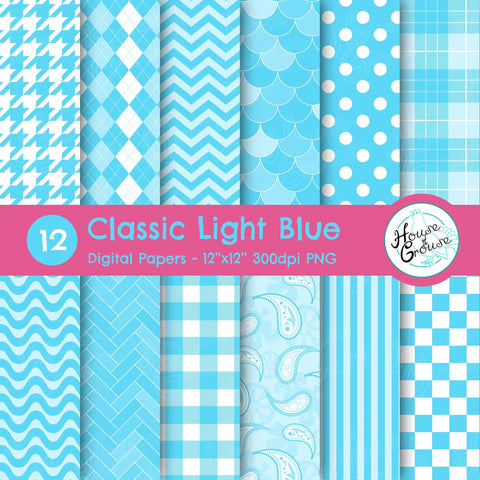 Classic Light Blue Pattern Set