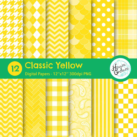 Classic Yellow Pattern Set