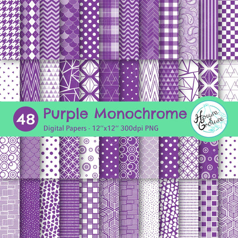 Purple Monochrome Pattern Bundle