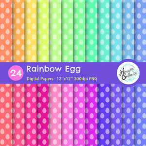 Rainbow Egg Pattern Set