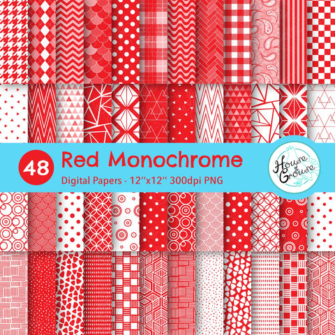 Red Monochrome Pattern Bundle