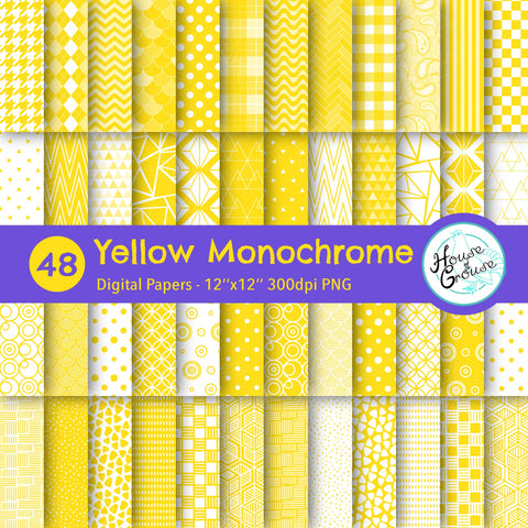 Yellow Monochrome Pattern Bundle