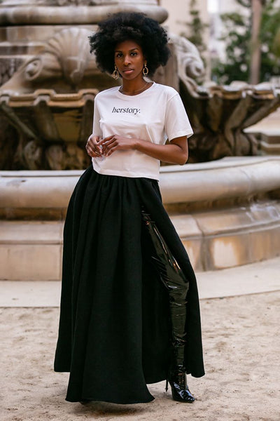 IPANEMA MAXI SKIRT / BLACK | Megan Renee
