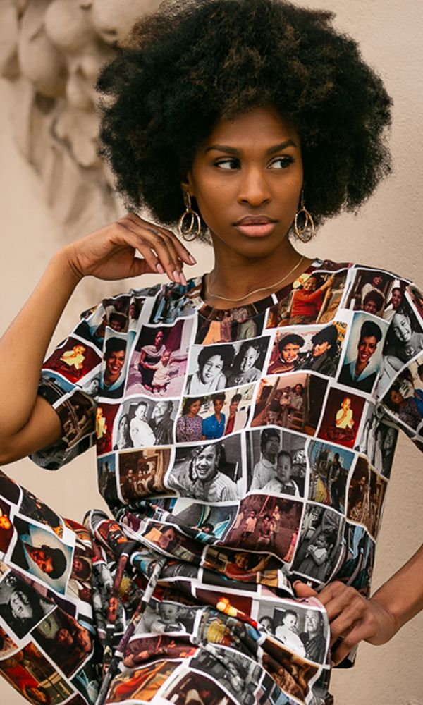 CROPPED T-SHIRT / KAMALA COLLAGE | Megan Renee