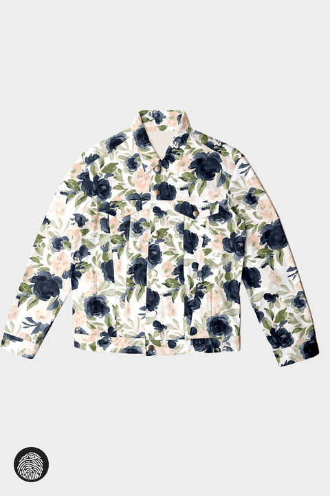 DENIM JACKET / FLORAL | MAM Couture