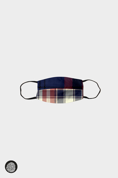 HORIZONTAL SEAM FACE MASKS (5-PACK) / PLAID III | MAM Couture