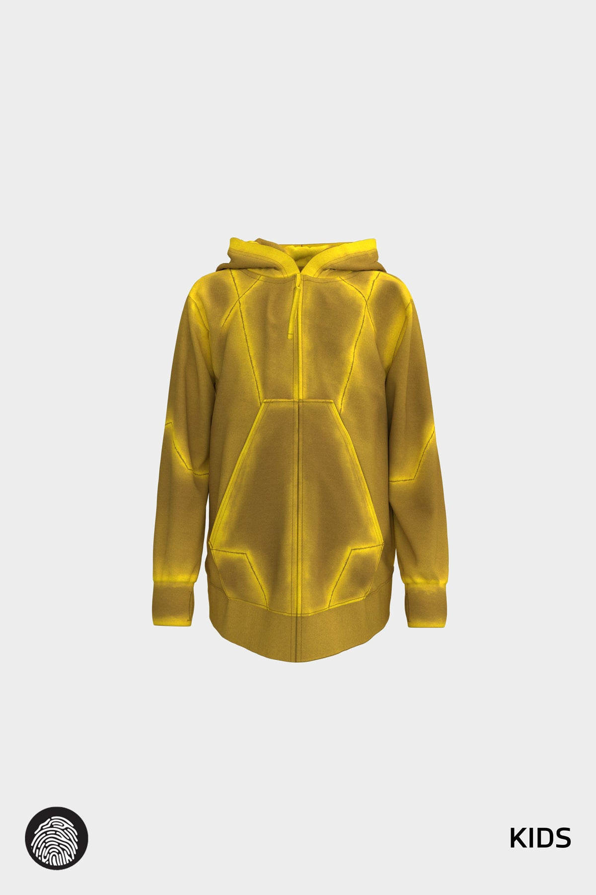 NEXUS 001 / ZIP FRONT HOODIE IN SULFUR | MOON/5UN