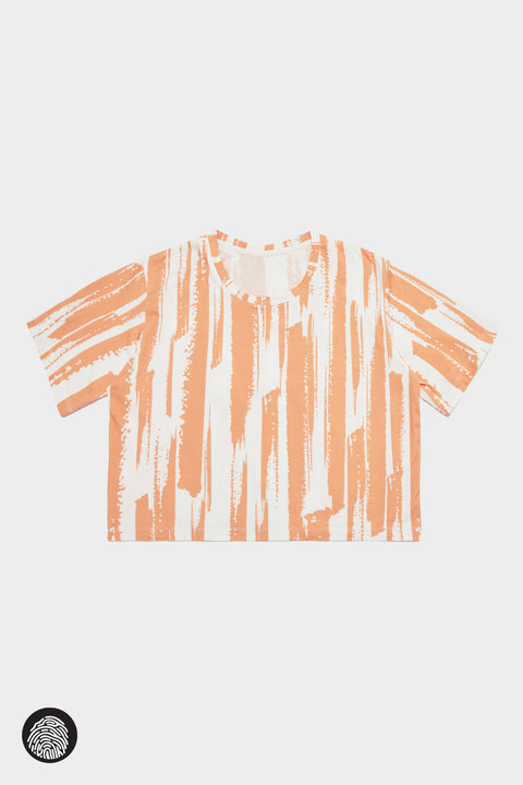 CROPPED T-SHIRT / BRUSH STROKE BLUSH | Megan Renee